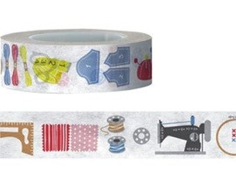 Sale Sewing / Needlework Washi / Masking Tape - 15 mm x 15 M