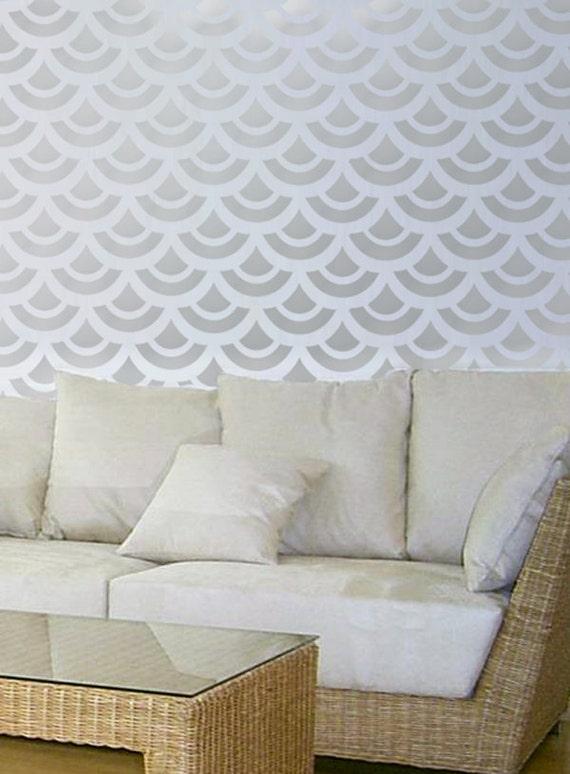 Pochoir feston mod le mur chambre d coration murale par for Pochoir deco murale