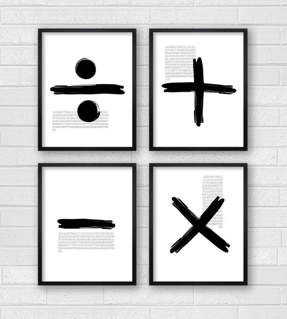 Black And White Contemporary Wall Decor : Modern wall decor art black white