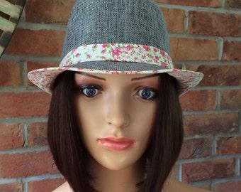 Stylish Bobbed human hair bespoke wig with stylish hat