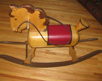 ANTIQUE ROCKING HORSE Local Pick Up Only Walton N Y 2 1/2 Hours From New York City
