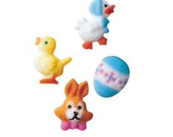 Easter Mini Assorted Sugar Dec-ons add just the right touch to your Easter and Spring baked treats.