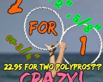 2 for 1 SPECIAL PolyPro Hula Hoop by Colorado Hula Hoops!