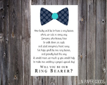 Will you be our ring bearer 4x6- Instant Download