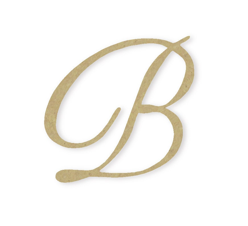 Wooden monogram letter b large or small unfinished by buildeez for Big wooden letter b