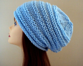 Slouchy Beanie Celebrity Hat Knit Winter Hat Chunky Hat Gift Ideas Under 50 Men Women Winter Clothing Hair Accessories