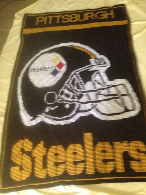 Crochet Pattern Steelers Afghan : Pittsburgh Steelers Afghan
