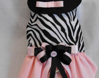 zebra harness dress