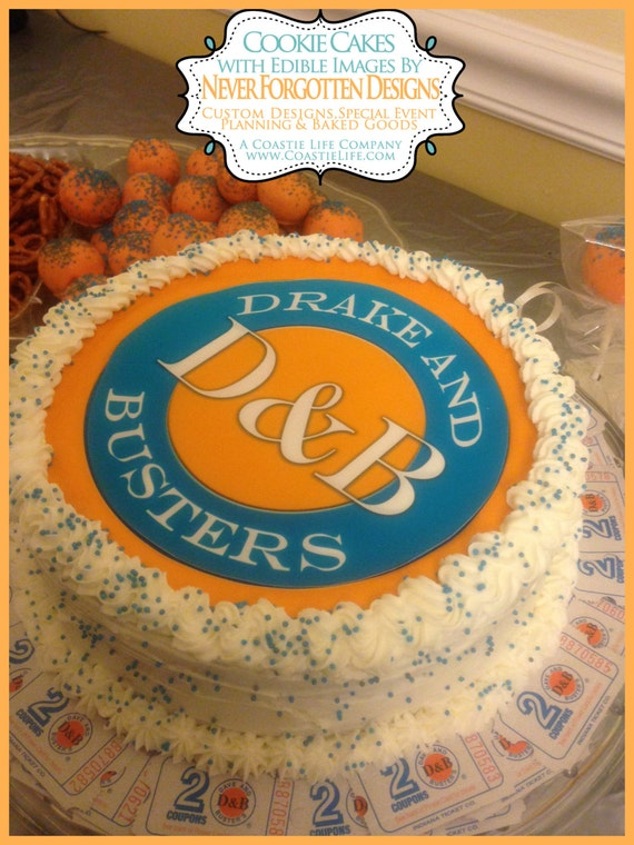 Custom Dave and Busters Inspried Edible Cake Frosting Sheet