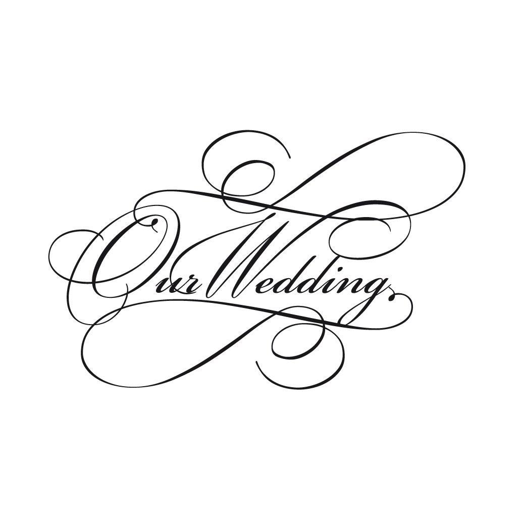 Wedding Invitation Borders Clip Art: Script Wedding Invitation Wording Clip Art In Classic Black