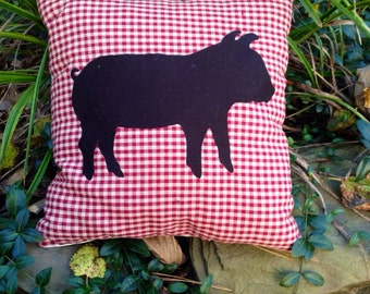 PEPPA THE PIG - Recycled Felt Applique Pillow by Country Sheik