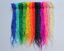 Synthetics Dreads Double Ended Natural Looking- Sold by 5 - ARTIFICIAL COLOR  19-21 inches LONG - Medium thickness