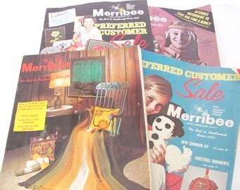 Vintage Craft Catalogs, 1970's Merribee Craft Catalogs, Mid Century Decor