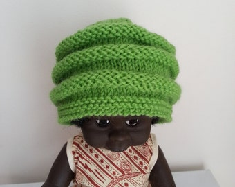 Baby hat - wool beanie - green baby hand knit hat - newborn - baby shower gift for baby