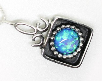 Gentle Opal and silver Pendant – Perfect gift for a woman – OOAK .