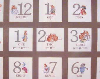 cross stitch beatrix potter numbers  CHART INSTRUCTIONS ONLY lakeland artist new