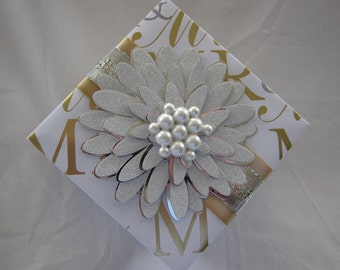 Wedding gift box - Handmade - paper gift box - Wedding - For the Bride and Groom - Anniversary - Silver - Gold - White