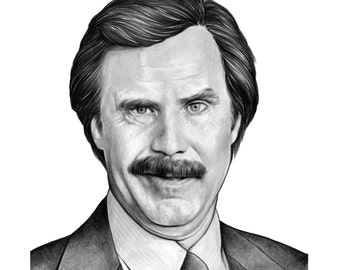 Anchorman 'Ron' (Will Ferrell) giclee print