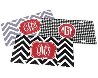 Monogrammed License Plate - Personalized License Plate - Custom Vanity Plate - Monogram Gift - Initial License Plate - Car Tag Monogram