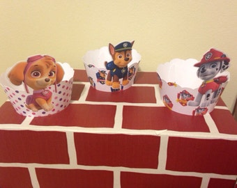 Paw Patrol Cupcake Wrappers x12