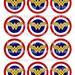 INSTANT DOWNLOAD Wonder Woman cupcake toppers, Wonder Woman party, Wonder Woman theme birthday