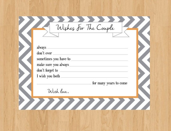 Bride And Groom Digital Advice Cards Wedding Well By Onthegoprints