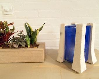 Rustic Handmade Concrete Succulent Planter Box By