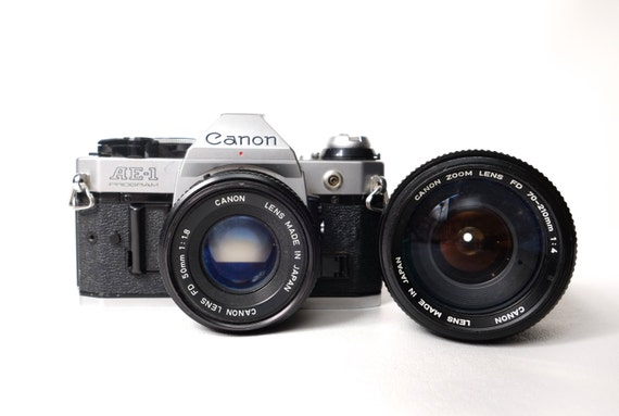 Vintage AE-1 Program Canon Camera - 50mm Lens