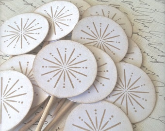 Cupcake Topper Snowflake Winter Wedding, Set of 25 or 50, Bridal Shower, Baby Shower, Birthday Party, Table Decoration, Cupcake Decoration