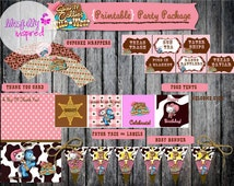 DELUXE Sheriff Callie {Inspired} Party Package / Sheriff Callie Party in a Box / Sheriff Callie Party Printables / Sheriff Callie Party Kit