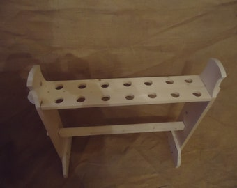 child size mini weapons rack wooden handmade for re-enactment kiddie vike