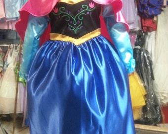 Anna Costume Frozen  Girl princess infant  toddler children dress