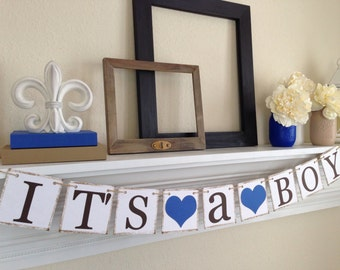 Its a Boy Banner, Baby Shower Decorations,  Baby Boy Shower Ideas, Its a Boy Sign, Boy Baby Shower