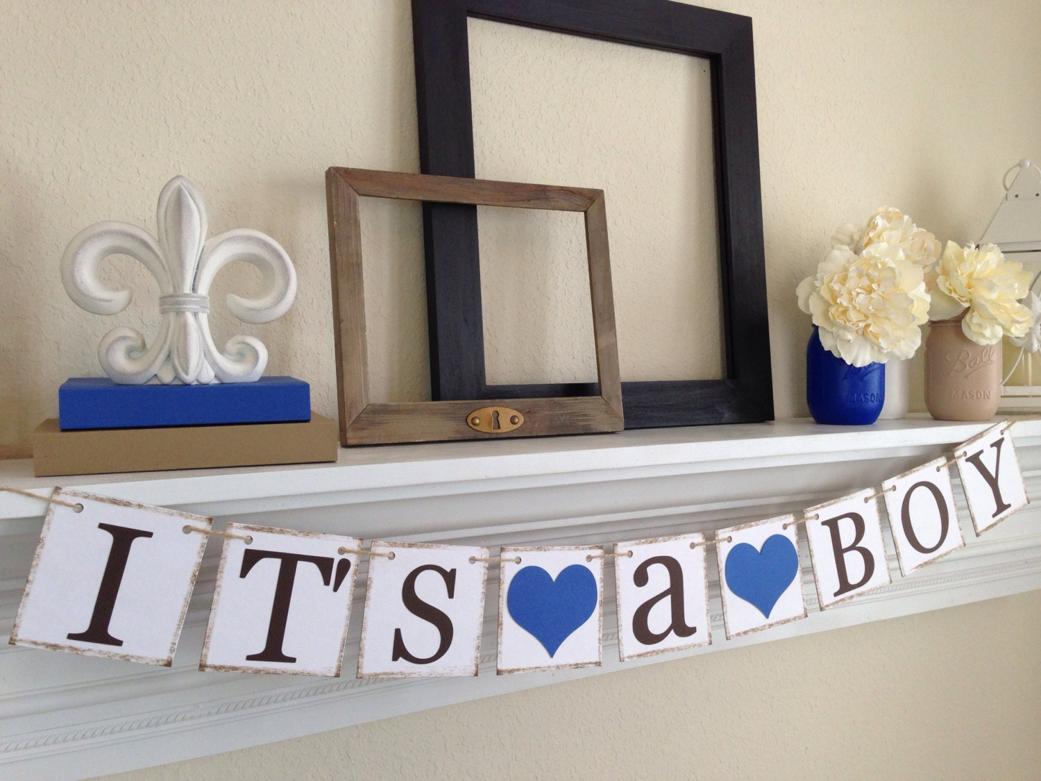 Its a Boy Banner Baby Shower Decorations Baby Boy Shower