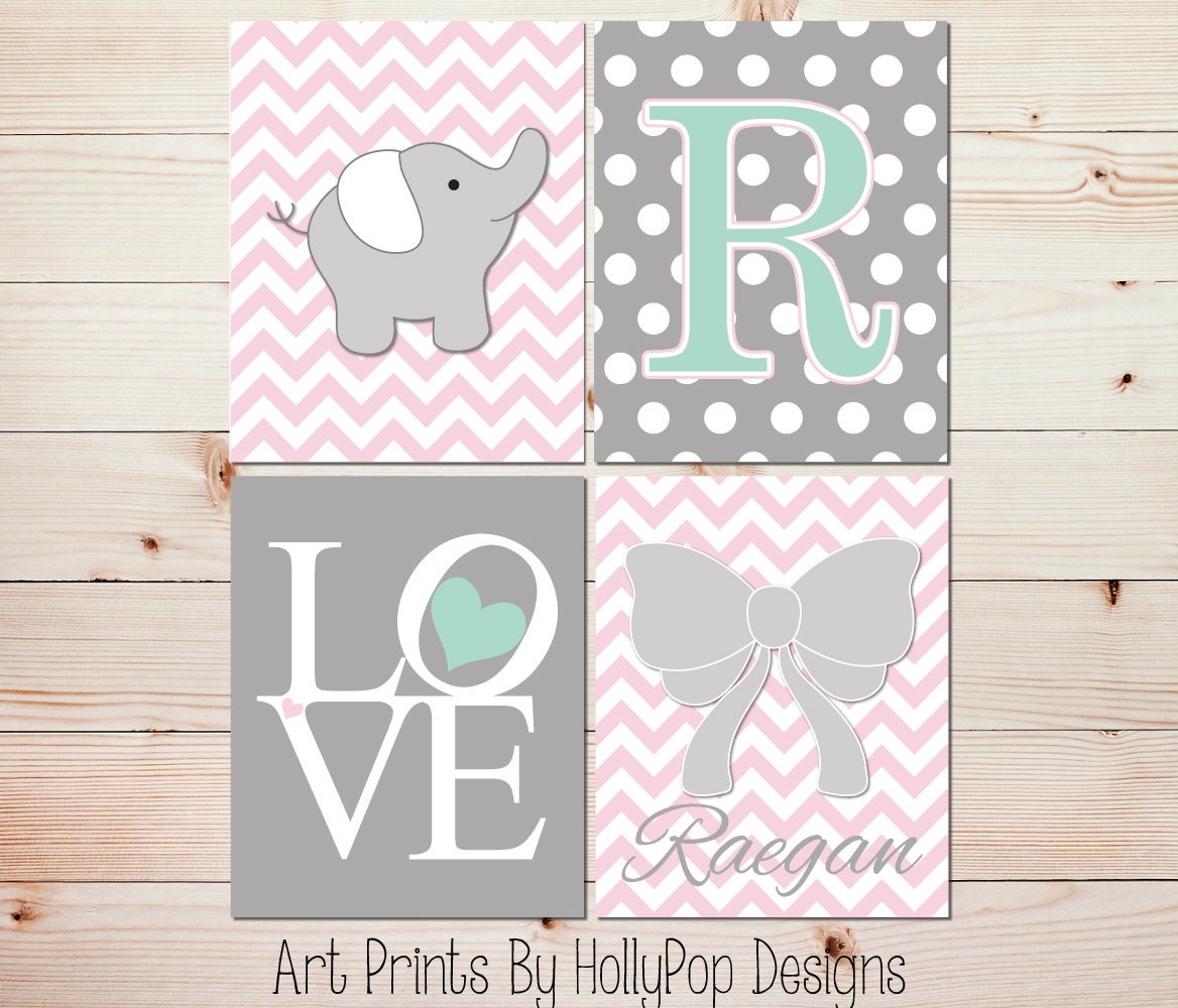 girl nursery art pink gray nursery decor baby girl wall art. Black Bedroom Furniture Sets. Home Design Ideas
