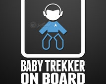 Baby Trekker On Board Custom Vinyl Decal/Sticker