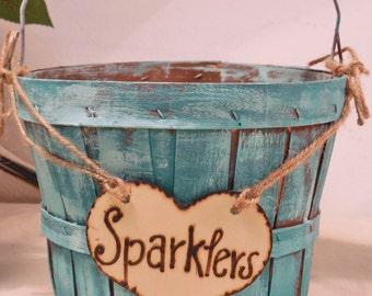 Sparkler Basket - Bubbles Basket - Wedding Reception - Baskets