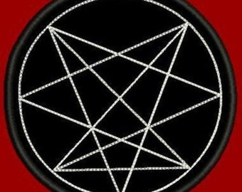 Nine angles order embroidered patch occult esoteric ona