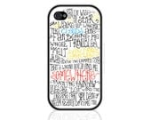 Somewhere Over The Rainbow - Song Lyrics iPhone and iPod Case, iPhone 5/5S/5C/6/6Plus, Samsung Galaxy, Wizard of Oz (0483)