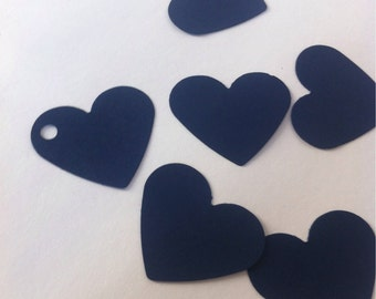 Set of 50  Blue Navy   hearts  tags / navy Tags, Favor Tags,Treat Bag Tags, Product Tags, Hang Tags, Wish Tree Tags, birthday tags ,