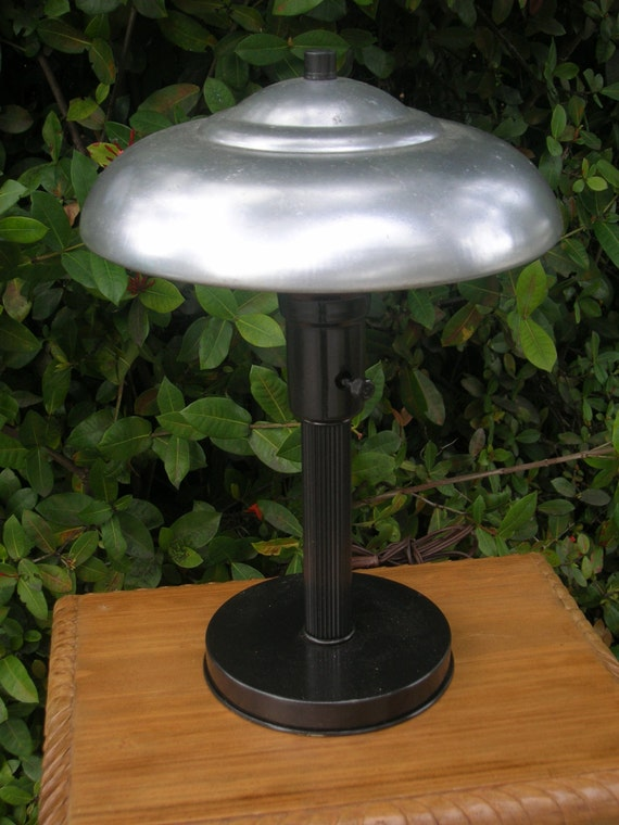 Atomic Lamp Flying Saucer Retro Vintage Mid Century Metal
