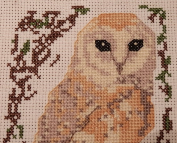 barn owl cross stitch pattern birds series from