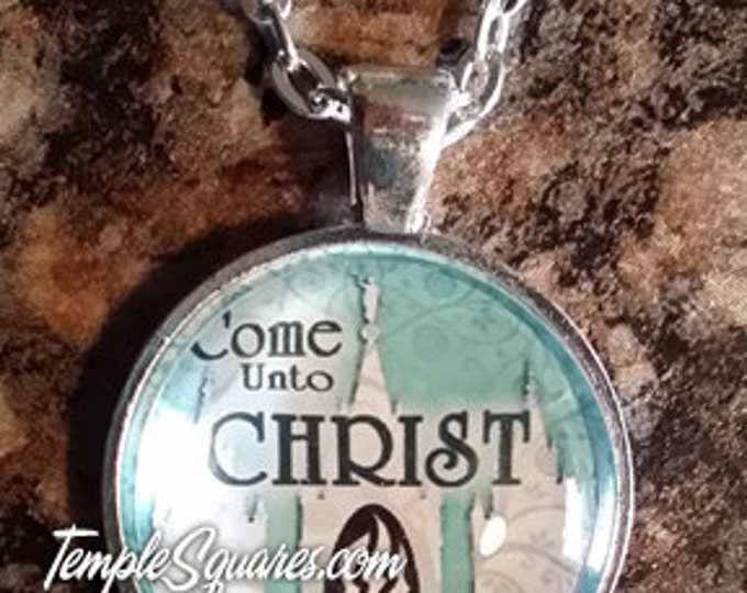Come Unto Christ Pendant Necklace YW Young Women gifts. Only 5 dollars each!
