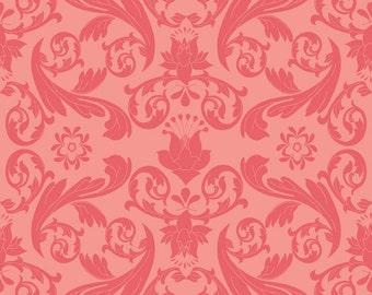 "Riley Blake Designs ""Kensington"" Damask Red Fabric by Emily Taylor Designs Fabric 1 yard c3321"