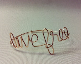 Customized / Personalized Wire Bracelets (NO CLASP)