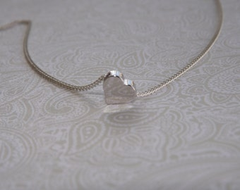 Tiny Heart Silver Necklace- Valentine's Day Gift