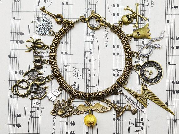 Horcrux Charm Bracelet Charm Bracelet Antique