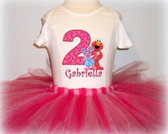 Elmo and Abby Birthday Tutu Outfit