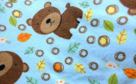 Baby bear fleece fabric by the yard for Children s flannel fabric by the yard