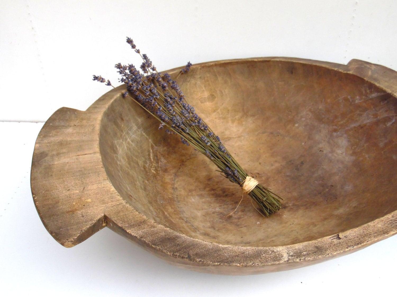 Antique Primitive Wooden Dough Bowl Antique Oval Natural